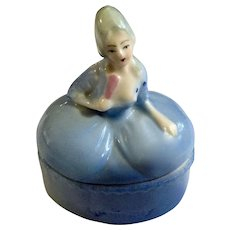 Vintage Dutch Delft Boy And Girl Novelty Salt & Pepper Set Pottery & Glass Art Pottery
