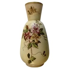1890-1894 W&R Carlton Ware Clematis Brown Swallow Marked Vase