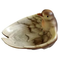 Antique Royal Bayreuth Bavaria Bird Figural Trinket Dish Ashtray Very Rare Bowl