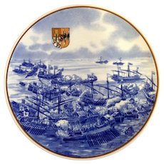 Galleria Ceramica Villeroy & Boch Limited Edition Collectors Plate 1983 Lepanto 1571 The Navel Battle that Saved the Christian West