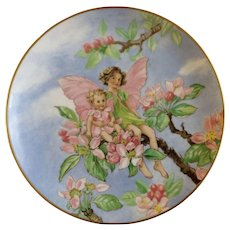 1981 Appleblossom Fairy Collectors Plate Flower Fairies by Heinrich H&C Villeroy Boch Germany Discontinued Fairy Woman with Her Daughter