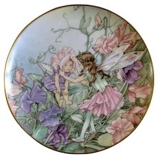 1980 The Sweet Pea Fairy Collectors Plate Flower Fairies by Heinrich H&C Villeroy Boch Germany Discontinued
