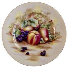 Orchard Gold by John Aynsley Fruit Dinner Plate 10-1/2 inches