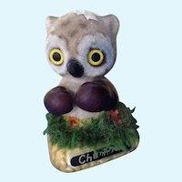 Witty Josef Originals Boxing Owl Champion Flocked Figurine