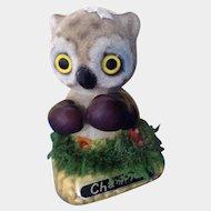 Very Rare Boxing Owl Champion Josef Originals Flocked Fuzzy Wazzy Wuzzy George Good Figurine
