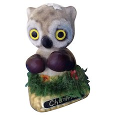 Very Rare Boxing Owl Champion Josef Originals Flocked Fuzzy Wazzy Wuzzy George Good Figurine