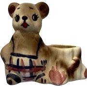 Vintage California U.S.A. Teddy Bear Small Planter Vase Pottery Figurine