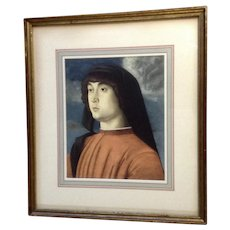 Giovanni Bellini, 'Portrait of a Young Man in Red', Vintage Print 1930's