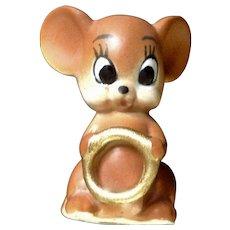 Josef Originals Angel Mouse Holding Wedding Ring Japan Figurine