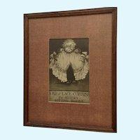 Bloomers Underwear Satire, Stone Lithograph Johnson 1907 Framed Print