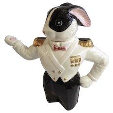 Fitz and Floyd Sea Captain Anthropomorphic Bunny Rabbit Teapot Figural OCI Omnibus