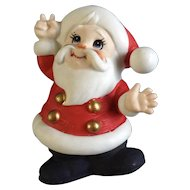 Adorable Lefton Santa Clause Figurine Nite Light With Switched Cord Saint Nick Japan