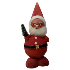 Vintage West Germany Paper Mache Santa Claus Bobble Head Nodder Candy Container