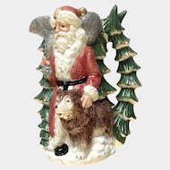 Fitz and Floyd Russian Santa Claus with His Bear Pitcher 1990 OCI Omnibus
