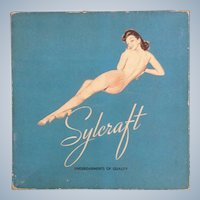 Vintage Sylcraft Undergarments Pin Up Girl Cardboard Lingerie Empty Box
