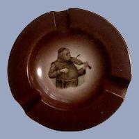 Germany Cigar Ashtray Transferware Monk Playing Violin #198 Porcelain
