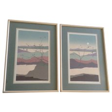 Alex Miles Illusion View Modern Landscape Trees Numbered Limited Edition Lithograph Prints