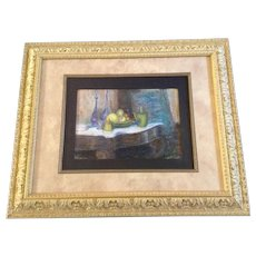 Edith Damon Baxter, Bohemian Glass Still Life Pastel Drawing