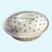 Pillivuyt France Porcelain Large Game Pie Tureen Oval Covered Dish