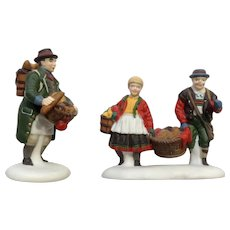 Heritage Village Collection Buying Baker's Bread Set of 2 Christmas Department 56 Ceramic Figurines #5619-7