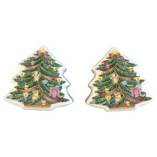 Decorated Christmas Trees Salt and Pepper Shakers Japan