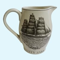 Cutty Sark Scotch Whisky Pitcher Captain John Willis 1986 Ceramic