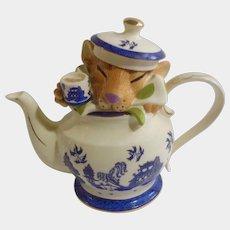 Paul Cardew Medium Dormouse Asian Teapot Limited Edition FDC 12322