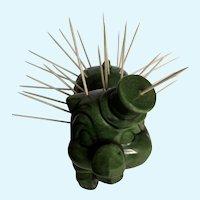 Mid-Century Hors D'oeuvre Pig Toothpick Holder Figurine