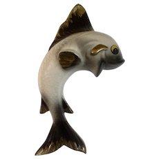 Mid-Century  Fish Wall Pocket Ceramic Planter Vase
