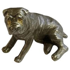 Sharpei Dog Rawcliffe Pewter P. Davis Miniature Animal Figurine