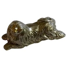 Pekingese Dog Rawcliffe Pewter P. Davis Miniature Animal Figurine