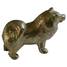 Chow Chow Dog Rawcliffe Pewter P. Davis Miniature Animal Figurine