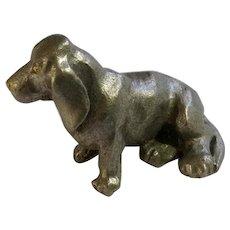Basset Hound Dog Rawcliffe Pewter P. Davis Miniature Animal Figurine