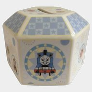 Rare Thomas The Train and Friends Coalport Characters Gullane 60 Years Celebration Collectors Hexagon Porcelain Children's Bank 2005