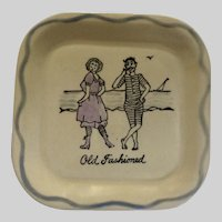 Los Angeles Potteries Square Sandwich Plate 'Old Fashioned' #350