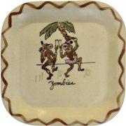 Vintage California Los Angeles Potteries Square Sandwich Plate 'Zombies' #350