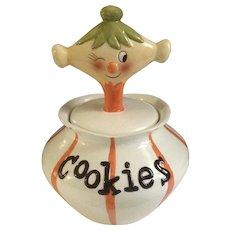 Pixie Cookie Jar Grant Holt Howard Retired Ceramic Figurine Container