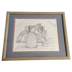 Susan (Sue) B. Rupp (1959-2008), The Cat's Pajamas, anthropomorphic Kitty Cats Signed Limited Edition Print Signed by Artist