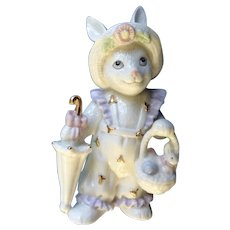 Lenox Anthropomorphic Girl Bunny Rabbit Easter Morning Porcelain Figurine Limited Edition 2004