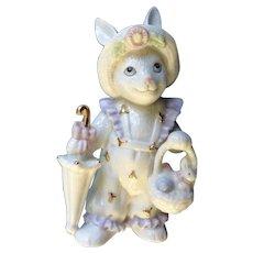 Lenox Anthropomorphic Girl Bunny Rabbit Easter Morning Porcelain Figurine Limited Edition 2004
