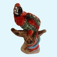Macaw Parrot Bird Casals Peru Terra-cotta Peruvian Figurine