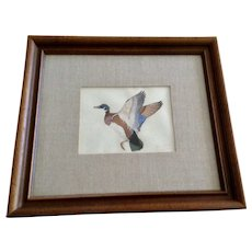 Robert W Wood, Wood Duck Oil Painting On Paper Signed by Artist