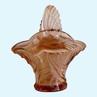 Tiara Indiana Glass Basket Coral Pink Empress Bird Paradise Wings for Handle