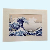 Katsushika Hokusai (1760-1849) The Great Wave Mount Fuji Japanese Woodblock Print
