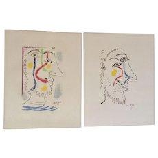 Pablo Picasso - Le Gout de Bonheur 16.5.64 III & V Mid-Century Lithograph Prints