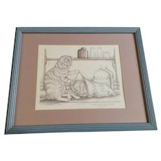 Susan (Sue) A. Rupp (1959-2008), Letting The Cat Out Of The Bag, Kitty Cats Signed Limited Edition Print Signed by Artist