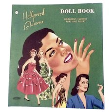 Mid-Century Hollywood Glamour Paper Doll Book Abbott Uncut