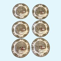 Johnson Brothers The Friendly Village Dinner Plates Made in England