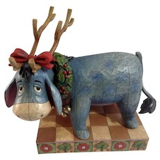 Jim Shore Collection Retired Disney Traditions Eeyore, Life Of The Party by Enesco Christmas Figurine 4008067