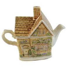 James Sadler English Country Cottages Series Wysteria Lodge Teapot - Made in England #4730